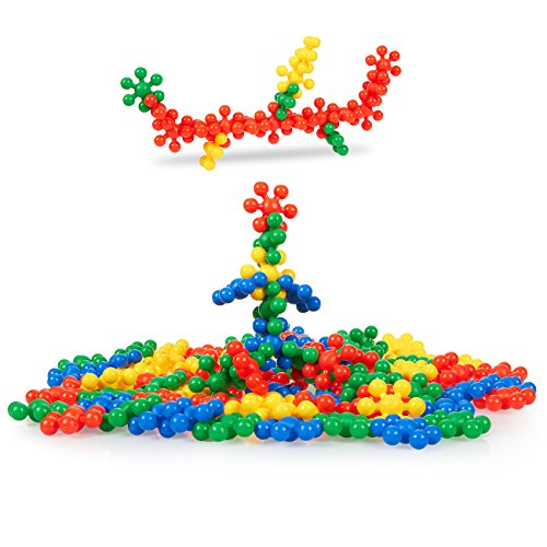 90-Piece Educational Toys Games - Interlocking Molecule Building Set, Non-Toxic PE Plastic Connecting Blocks, Sensory Brain Toys Building Materials for Kids