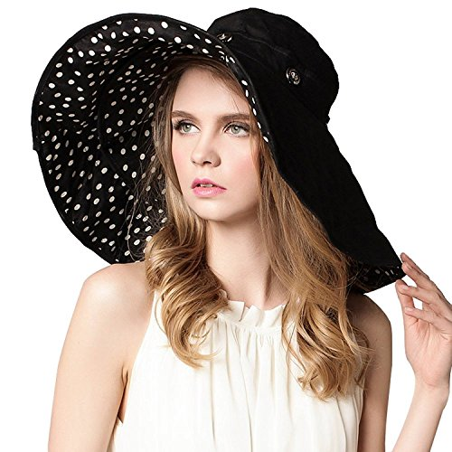 Gellwhu Women's Large Wide Brim Sun Hat Big Floppy Fishing Hat Bucket Hat - Large Brim Bucket