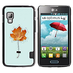 Paccase / SLIM PC / Aliminium Casa Carcasa Funda Case Cover para - Maple Leaf Kids Class School Autumn Fall - LG Optimus L5 II Dual E455 E460