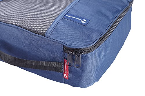 Premium Set of 3 Packing Cubes, Superior Travel Organizer Fits Inside Suitcases, Light Weight, Durable Fabric & Zippers, Highest Quality Materials (Blue) by NewNomad (Image #3)