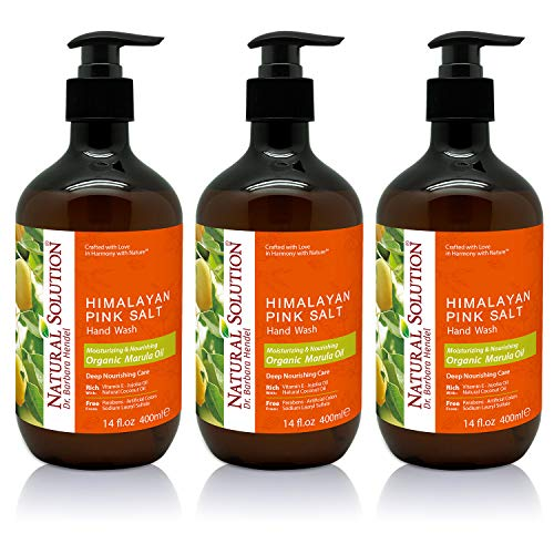 Natural Solution Himalayan Pink Salt Liquid Hand Soap,Moisturizing & Nourshing,Marula Oil - 14 oz (3 Pack)