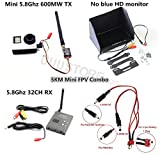 RC FPV Combo System Boscam 5.8Ghz 600mw Transmitter Receiver No blue monitor for Gopro DJI Phantom