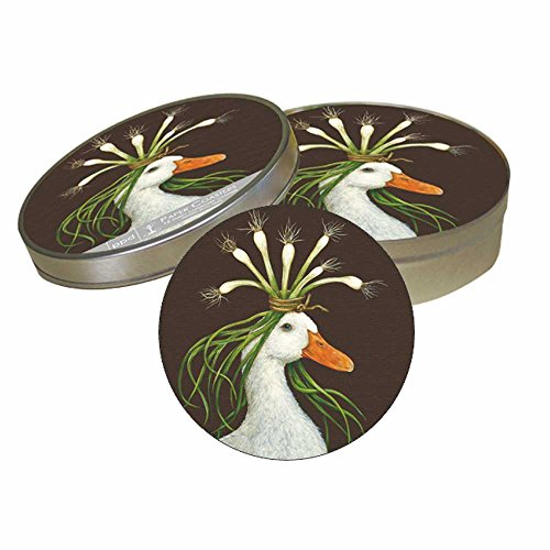 Paperproducts Design Pulpboard Coaster Set Featuring Miranda Design, 4 x 1