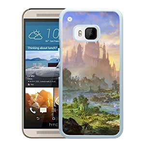 Beautiful And Unique Designed With Castle Rock Sea Green Sky (2) For HTC ONE M9 Phone Case