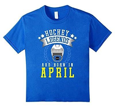 FUNNY HOCKEY T-SHIRT Legends in April Birthday Gift