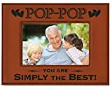 POP-POP GIFT ~ Engraved Leatherette Picture Frame ~ POP-POP – You Are SIMPLY THE BEST! ~ Grandparents Day Gift, Papa Birthday Gift, Grandpa Christmas Gift
