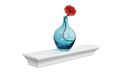 Amazon.com: WELLAND Classic Painted Wall Floating Shelf Crown ...