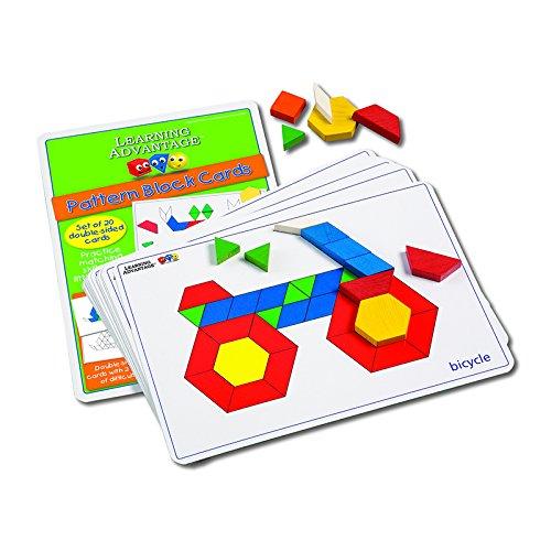 LEARNING ADVANTAGE PATTERN BLOCK CARDS (Set of 6)