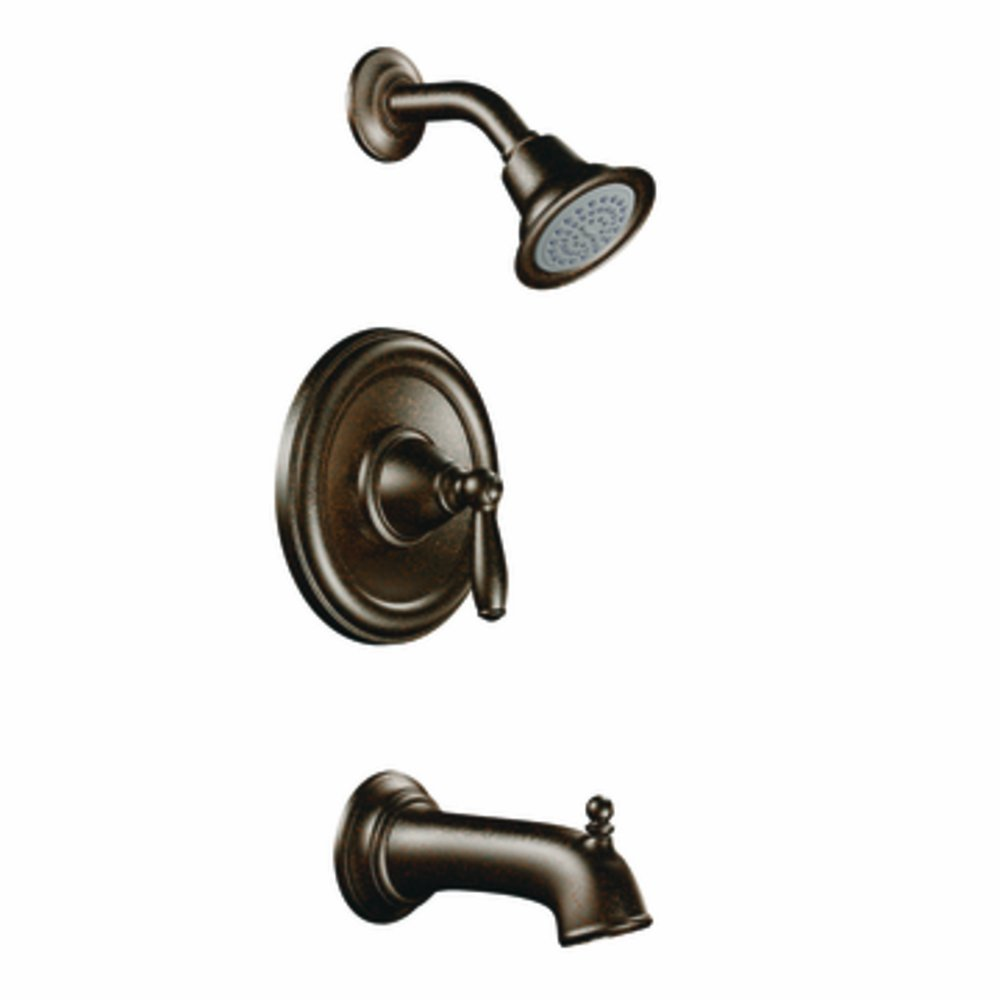 Moen T2153EPORB Brantford PosiTemp Tub and Shower Trim Kit without Valve, Oil-Rubbed Bronze