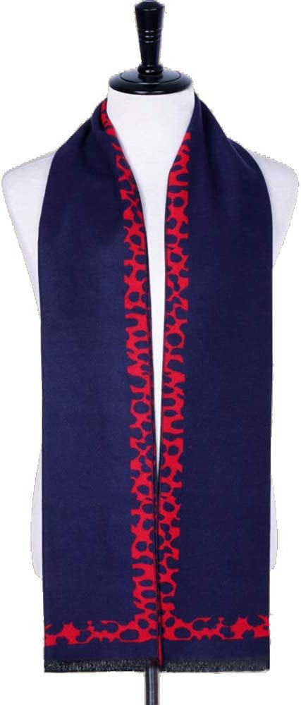 Scarf Comfortable Practical Mens Autumn Winter Warm Scarf Striped Grid Neckerchief Tartan Scarves 18030cm Color : 1, Size : 18030CM