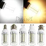 Zhigao E12 E14 E27 G9 GU10 B22 9W 550 LM 42 SMD 5730 LED Corn Bulb Lamp Cover 110V 220V Pure White E14 (European) 110V