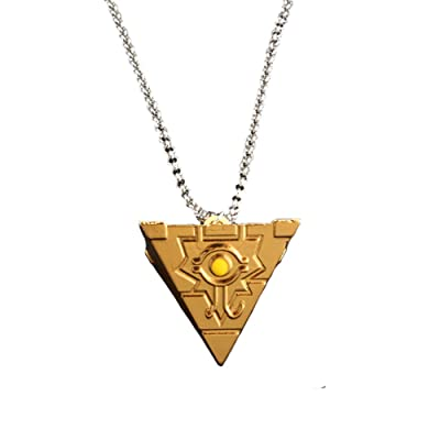 Moniku Yu-Gi-Oh Millenium Puzzle YuGiOh Millennium Pendant Necklace Cosplay Accessories (Gold): Clothing [5Bkhe1400613]