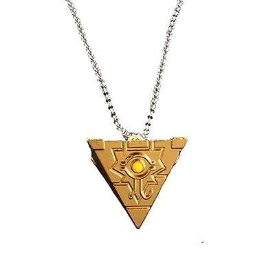 Moniku Yu-Gi-Oh Millenium Puzzle YuGiOh Millennium Pendant Necklace Cosplay Accessories (Gold): Clothing