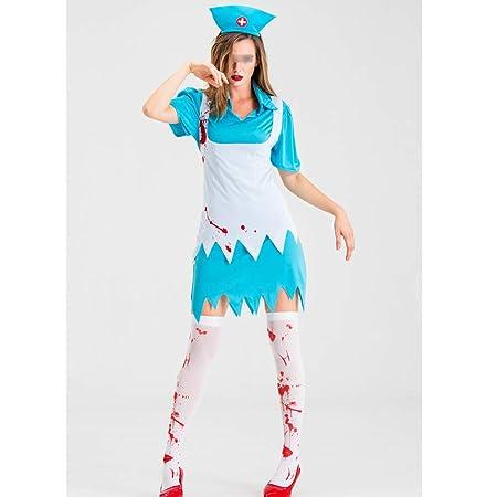 HUOFEIKE Dark Style Maid Nun Nurse Ninja Role Play, Disfraz ...
