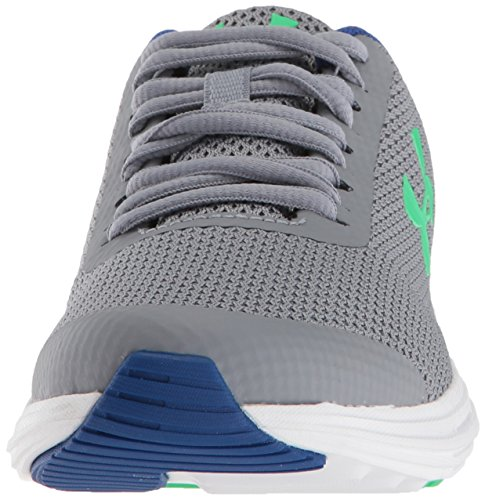 Under Armour Boys' Grade School Surge RN Sneaker, Steel (102)/White 4.5 by Under Armour (Image #4)