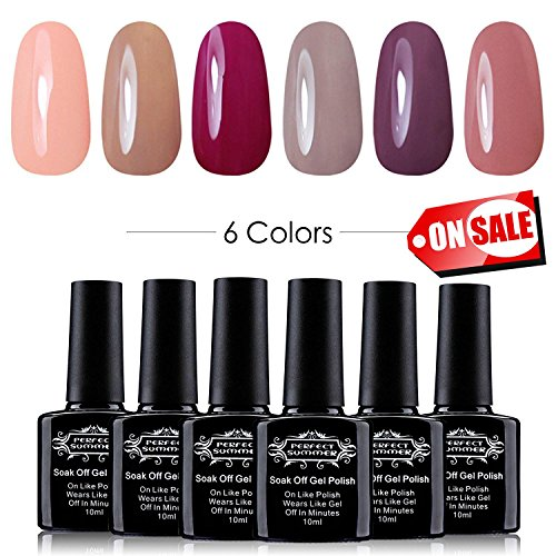 UV Led Gel Nail Polish Set Kit - Nail Lacquers Soak Off for