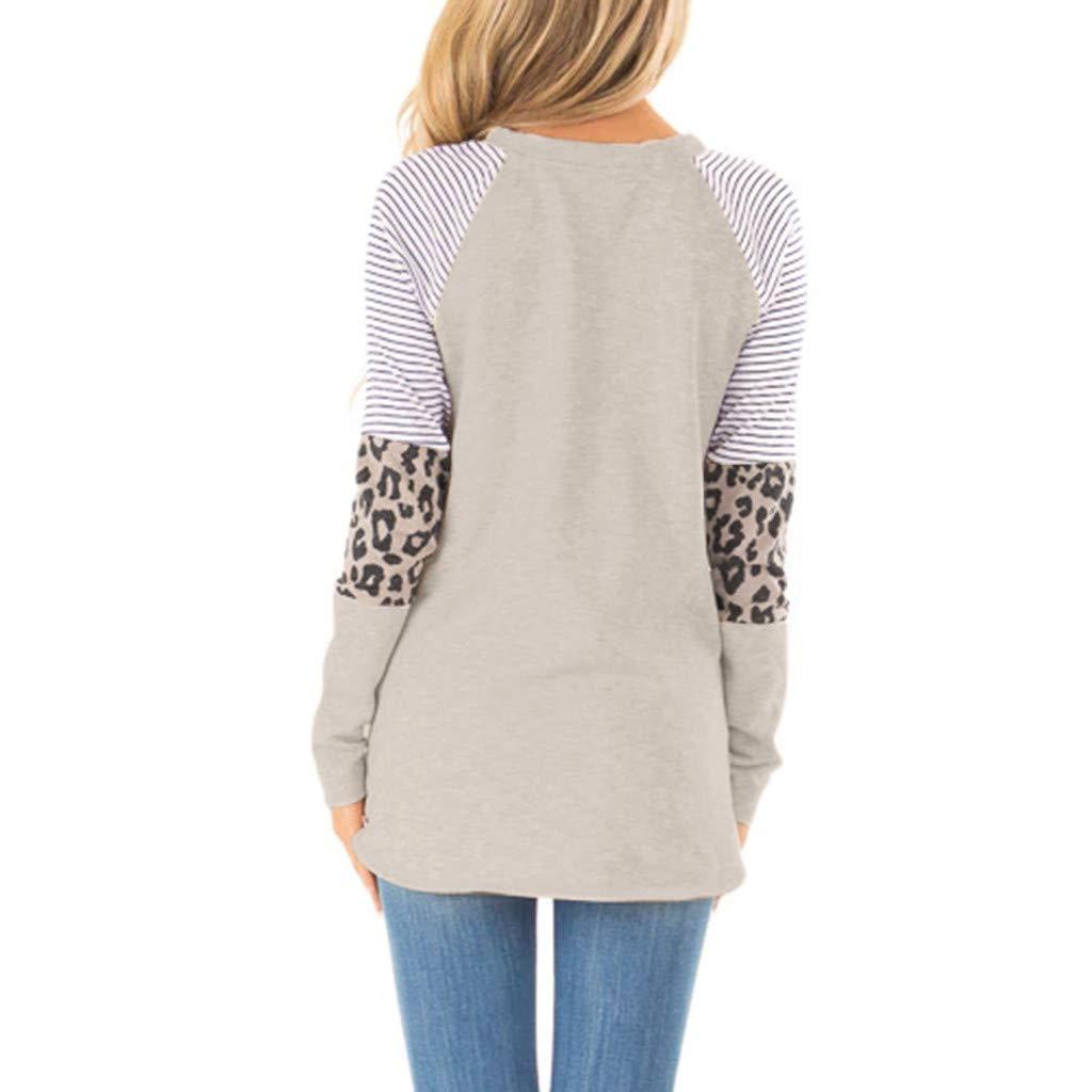 YAnGSale Top Women Shirt Casual Leopard Print Sweatshirt Long Sleeve Blouse T-Shirt Pullover Tops