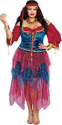 Dreamgirl Women's Gypsy, Multi, (Halloween Gypsy Costume)