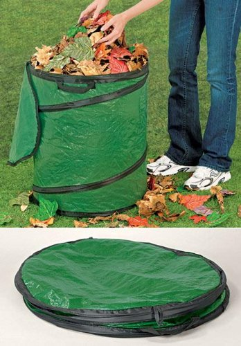 Collapsible Trash Container - POP UP TRASH CAN STORAGE COLLAPSIBLE CONTAINER CAMPING RV LEAVES