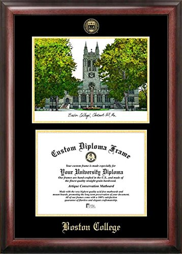 Boston College BC Diploma Frame with Limited Edition Lithograph