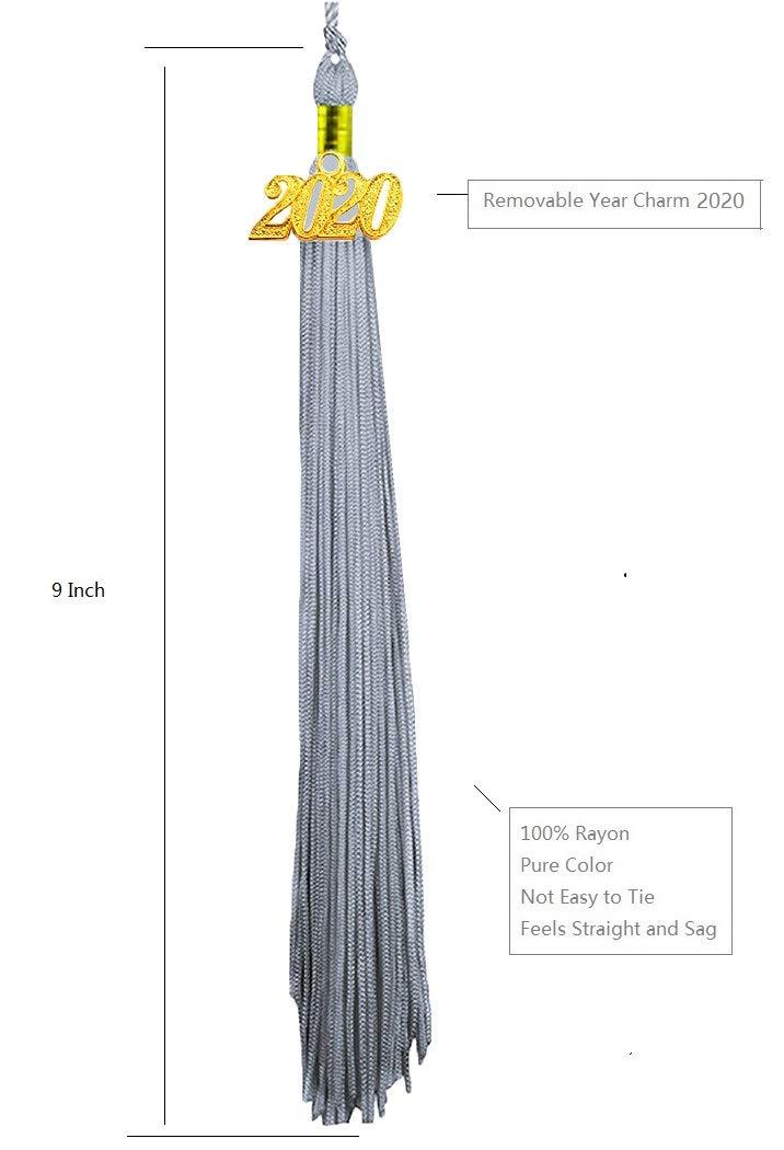 HEPNA Uniforms Graduation Cap Tassel for Graduation Photo,Double Color Black//Gold 2020 Update