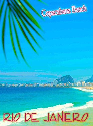 A SLICE IN TIME Copacabana Beach Rio de Janeiro Brazil South America Vintage Travel Art Poster Advertisement