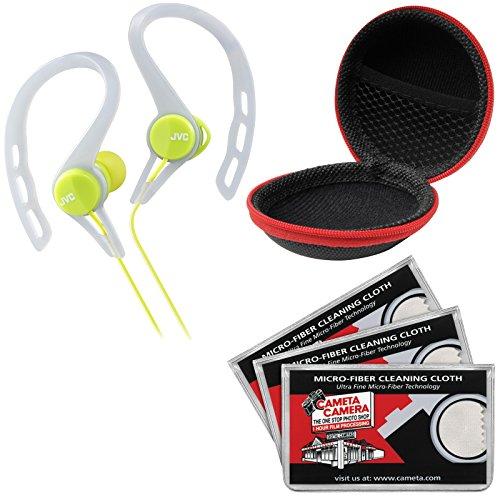 JVC HA-ECX20 Inner Ear Headphones (Green) with Cas...