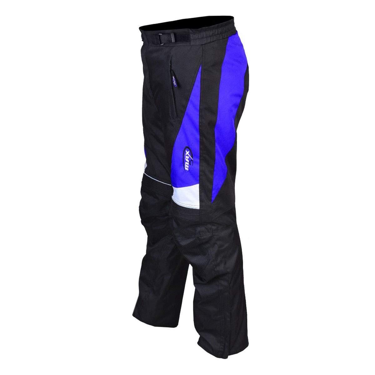 Max5/pour moto Pantalon de pluie Pantalon Longueur compl/ète Sports Bulk Motif Polyester Cordura Tissu Mat/ériau de qualit/é premium