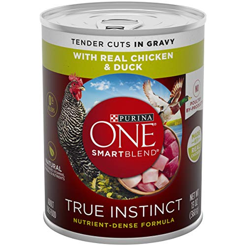 Purina ONE Natural Gravy Wet Dog Food; SmartBlend True Instinct Tender Cuts With Real Chicken & Duck - 13 oz. Can (Pack of 12)