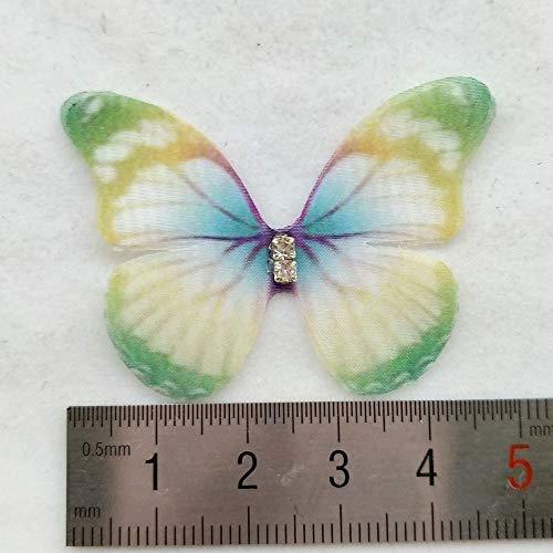 3 cm SUPVOX 20 Pz Stocking Farfalle Farfalla colorata Farfalla Decorativa in tessuto Accessori fai da te Applique Vestiti Decorazione