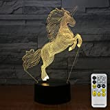 FlyonSea Unicorn Gifts Night Lights Kids 7 Colors Change Remote Kids Night Light Optical Illusion Lamps Kids Lamp As a Gift Ideas Boys Girls