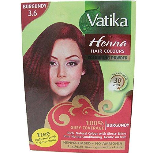 Vatika Henna Burgundy Hair Color Ammonia Free (60 g / 2.11 oz)