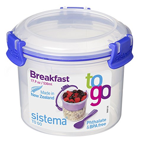 Sistema Klip It Collection Breakfast Bowl To Go Food Storage Container, 17.9-Ounce/ 2.2 Cup (Sistema Cereal Container compare prices)