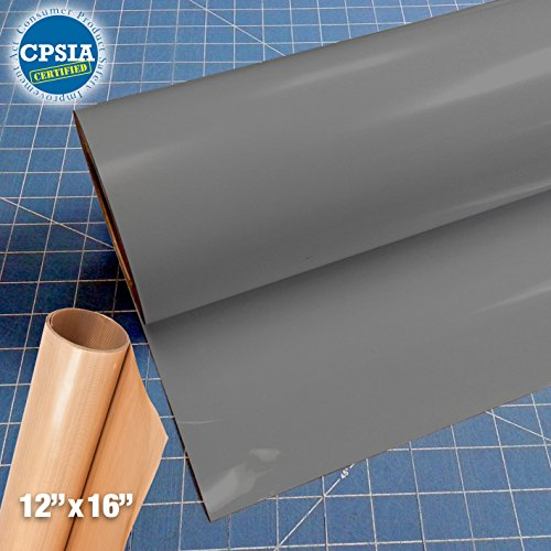 Siser Easyweed Grey Heat Transfer Craft Vinyl Roll (150ft x 15'' Bulk w/ Teflon roll) by Siser