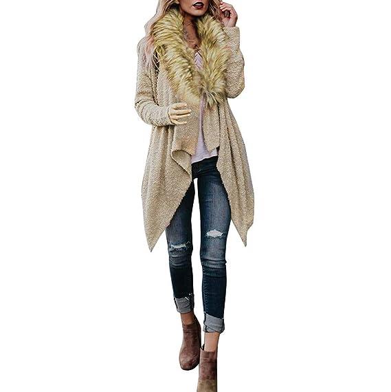 Darringls Abrigo Mujer Sudadera con Capucha Tejer Suelta Tallas Grandes Jersey de Mujer Jersey otoño Invierno Manga Larga Remata Abrigo cálido S-3XL: ...