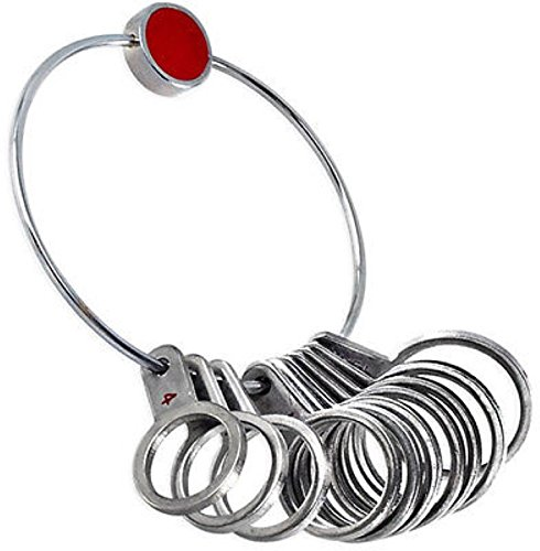 Ring Band Sizer Gauges Comfort Fit Sizing Tools Sizes 13 to 4 - 22.5mm - 14.9mm