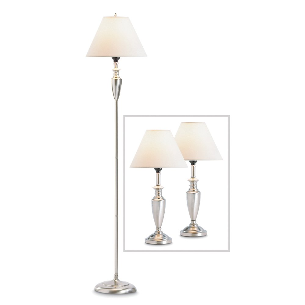 Contemporary floor and table lamp set household lamp sets contemporary floor and table lamp set household lamp sets amazon aloadofball Images