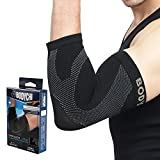 BODYCHI Seamless Elbow Brace Compression Support Sleeve Pair, for Tendonitis, Tennis Elbow, Golf Elbow Treatment, 20-30 mmHg, Small
