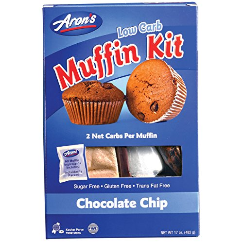 Aron's Low Carb Gluten Free Muffin Mix (17 oz) Sugar Free, Grain Free, Only 2 Net Carb Per Muffin! Easy To Make! Delicious Bakery Fresh!