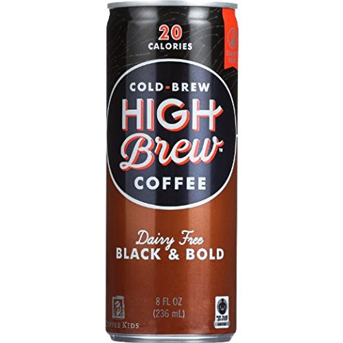 High Brew Cold Brew Coffee 6 - 8oz Cans (Black & Bold)
