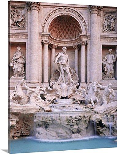 Johanna Huber Premium Thick-Wrap Canvas Wall Art Print Entitled Italy, Rome, Trevi Fountain, Fontana di Trevi