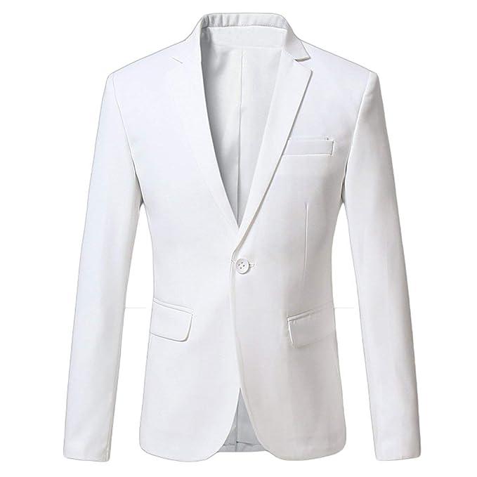 Slim Fit Business Blazer para Hombre Chaqueta Modular Traje De Fiesta De Boda Vintage Chaquetas Esmoquin con Solapa De Manga Larga Prom Blazer Hombres: ...