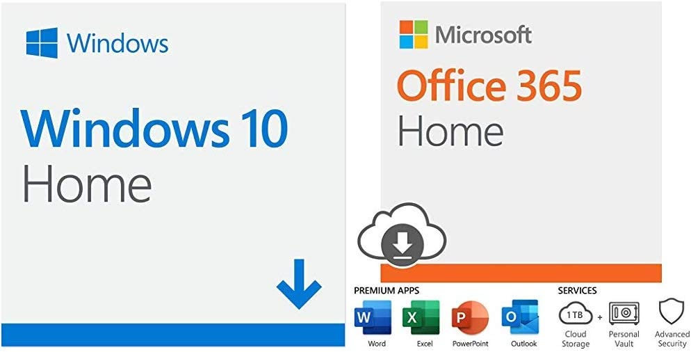 Microsoft Windows 10 Home | Download+ Microsoft Office 365 Home with Auto-Renew
