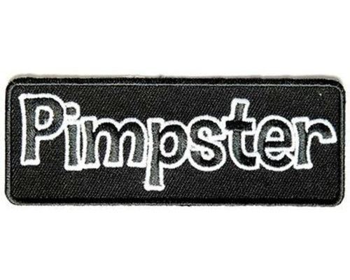 PIMPSTER Hipster Pimp Funny Quality MC Club Motorcycle Biker Vest Patch PAT-3348 -