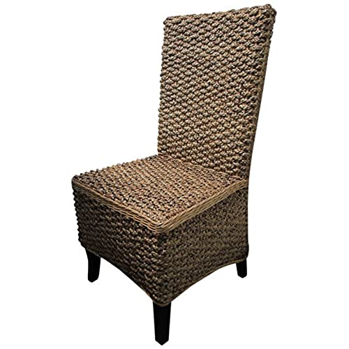 D ART COLLECTION 6 Piece Mahogany Seagrass Dining Chair Set