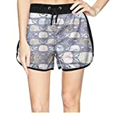 Girls Oh Whale Cute Narwhal Lover Beach Elastic Shorts