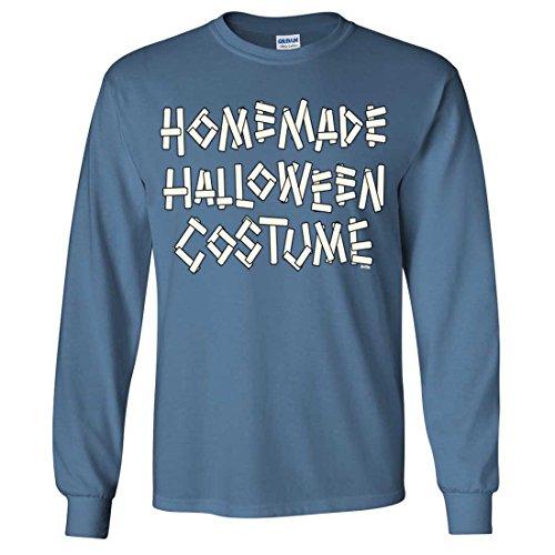 20's Homemade Costumes (Homemade Halloween Costume Long Sleeve Shirt - Indigo Blue XX-Large)