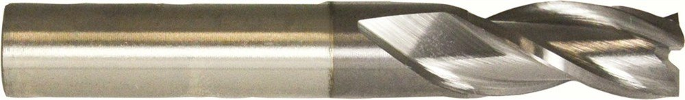 1-1//4 Diameter TiCN Coated Straight Shank with Flats Cleveland Style HG-3 C39724 High Speed Steel Single End 3-Flute Center Cutting Finisher End Mill Pack qty. 1 Spiral Flute