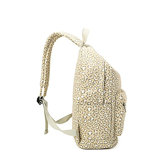 Style Moollyfox Women Travel Preppy Backpack Capacity Backpack Leopard Bag For Students White School Large Print BRZYwZxqp