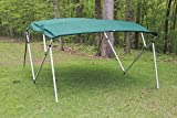 GREEN SQUARE TUBE FRAME VORTEX 4 BOW PONTOON/DECK BOAT BIMINI TOP 8' LONG, 91-96